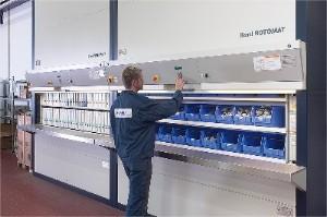 Hanel Rotomat Industrial Vertical Carousel System | Rotomat Industrial Carousel | Rotomat ...