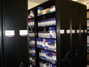 Multi Media Storage Using High Density Mobile Shelving Systems