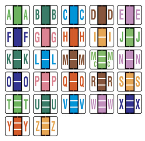 color code labels alphabetic color code labels numeric With alphabet labels for files