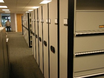 Electric Mobile Storage for Human Resource File Storage