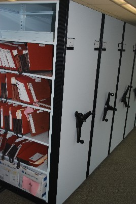 Mobile Shelving for files and boxes