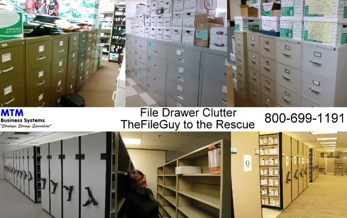 Fix Filing Drawer Clutter with High Density Mobile Shelving from MTM Business Systems