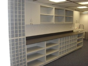 Document Storage Casework for plans & blue prints