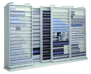 Slidetrac  High Density Lateral Shelving For Multi Media Storage By Russ  Bassett