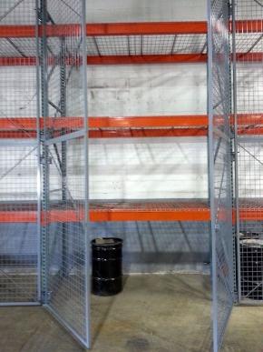 Pallet Rack Doors Pallet Rack Enclosures Secure Pallet