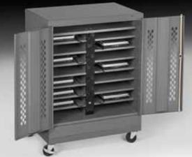 Secure Laptop Storage Cabinet Powered Laptop Storage
